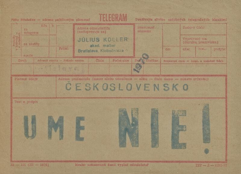 Július Koller – Ume nie!, 1970, Anti-múzeum Júliusa Kollera