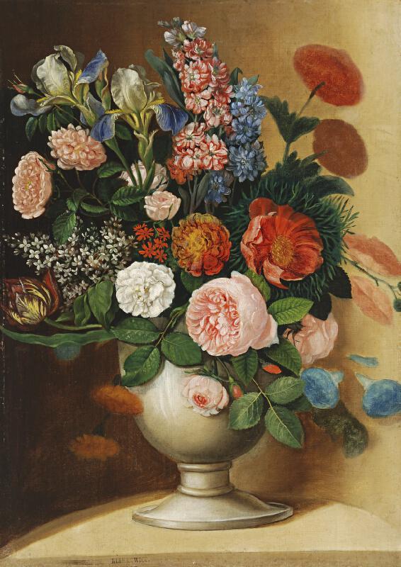 Ignác Klimkovič - Váza so záhradnými kvetmi