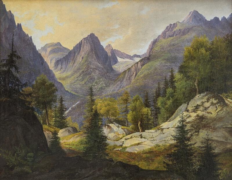 Karl Pichler - Pohľad na Lomnický štít