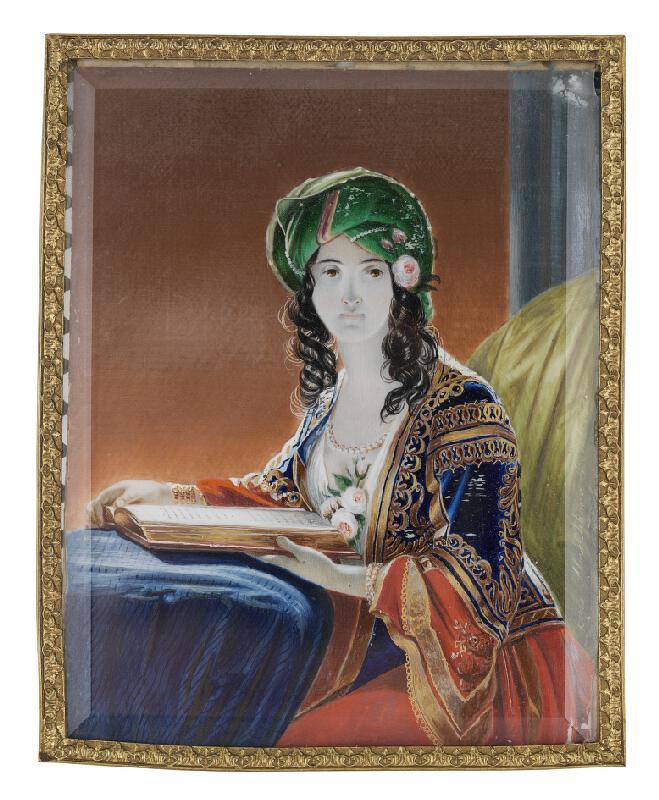 Alojz Sikora - Mladá žena s turbanom (podľa Friedricha von Amerling)