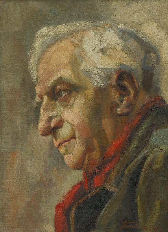Ján Šandora - Podobizňa starého muža z profilu