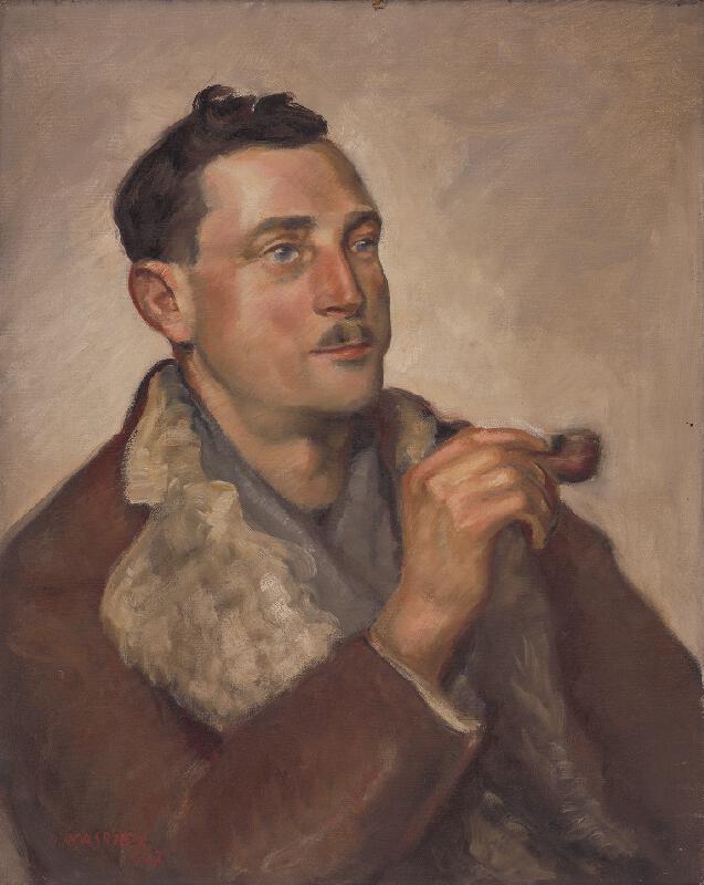 Herman Kasriel - Portrét muža s fajkou