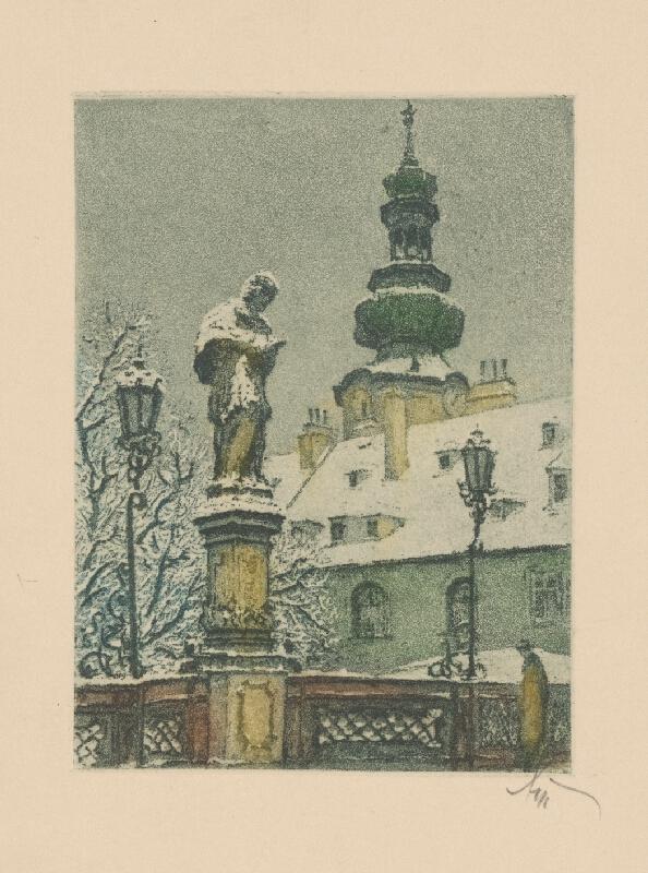 Stredoeurópsky grafik z 1. polovice 20. storočia - Michalská brána v Bratislave