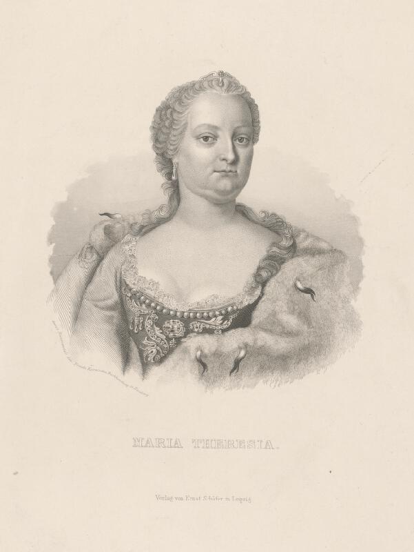 Stredoeurópsky grafik z 19. storočia - Portrét Márie Terézie
