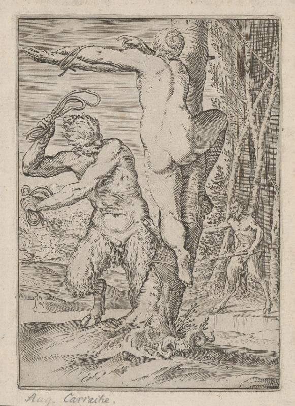 Lodovico Carracci - Satyr bičujúci ženu