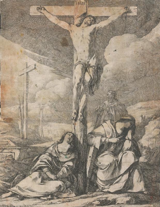 Stredoeurópsky grafik zo 17. storočia - Ukrižovanie