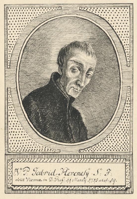 Stredoeurópsky grafik z 18. storočia - Portrét Gabriela Hevenelyho
