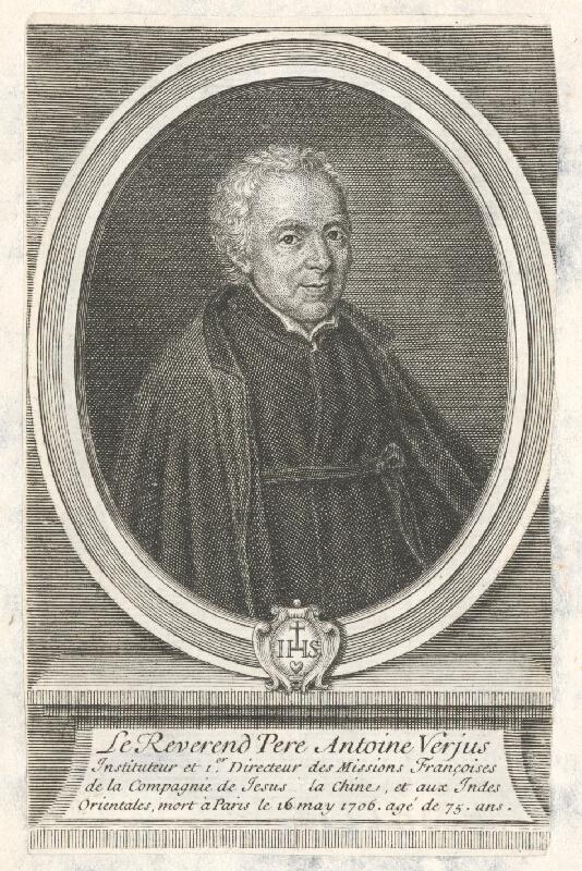 Francúzsky grafik z 18. storočia - Portrét Antoana Verjus-a