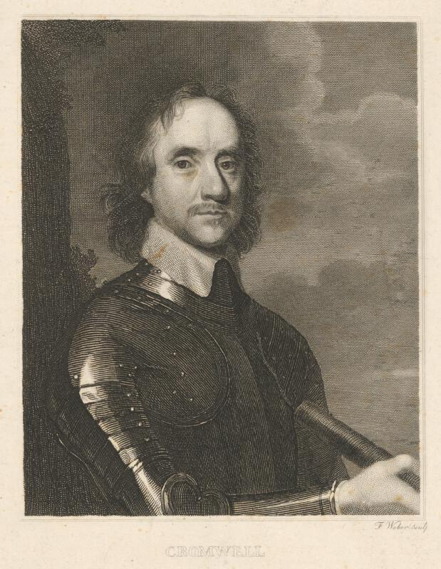 Friedrich Weber - Portrét generála Cromwella