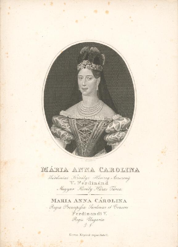 Adám Sándor Ehrenreich - Portrét Márie Anny Karolíny