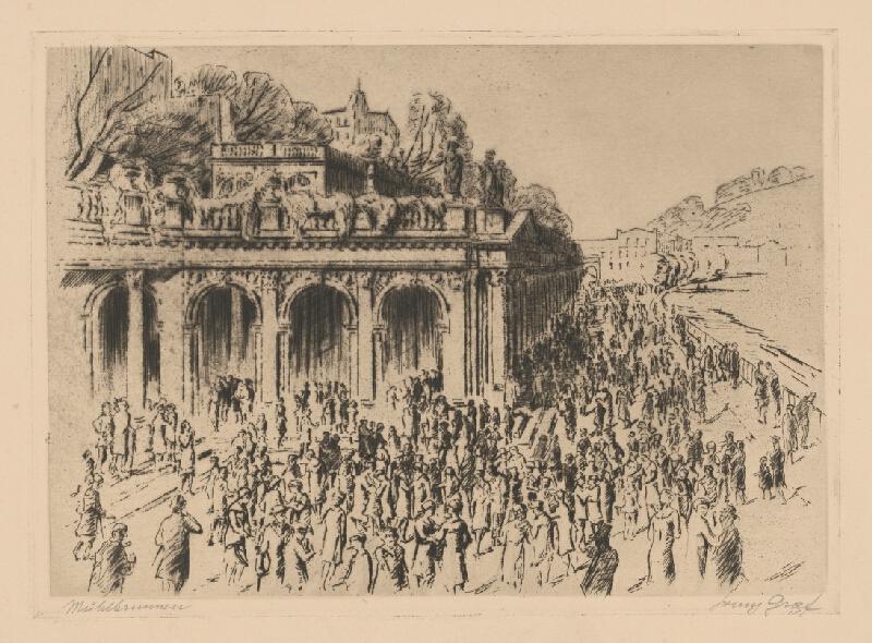 Ludwig Ferdinand Graf - Časť kúpeľného mesta