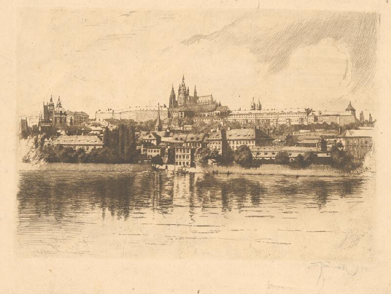 Český grafik z 20. storočia - Pohľad na Prahu