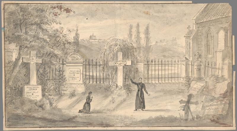 Stredoeurópsky grafik z 19. storočia - Cintorín
