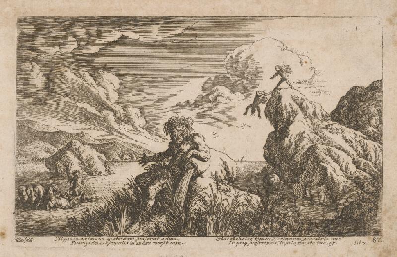 Stredoeurópsky grafik zo 17. storočia - Mytologický výjav