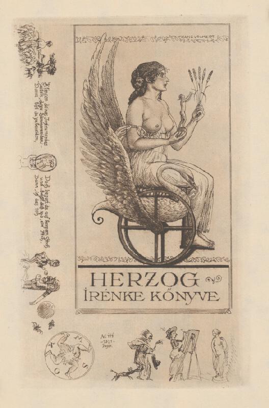 Hans Volkert - Ex libris Irenke Herzogovej