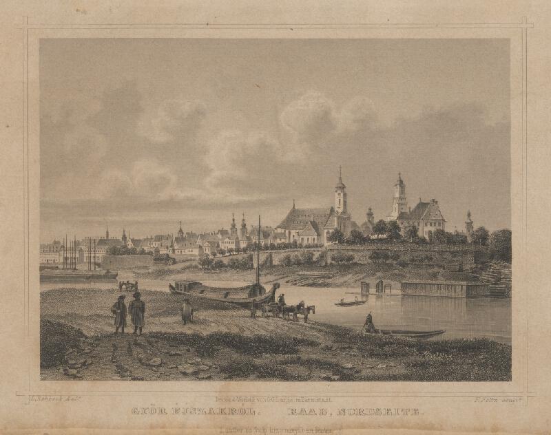 Philipp von Foltz, Ludwig Rohbock - Pohľad na Győr