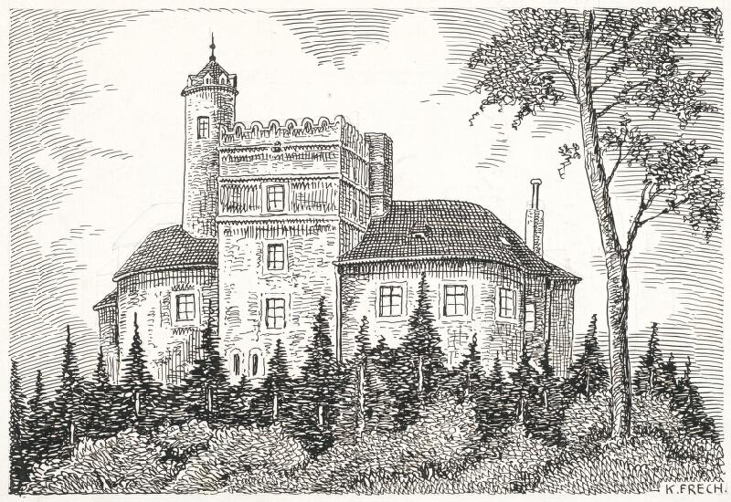 Karol Frech - Hrad Sachsengang a.d. Donau