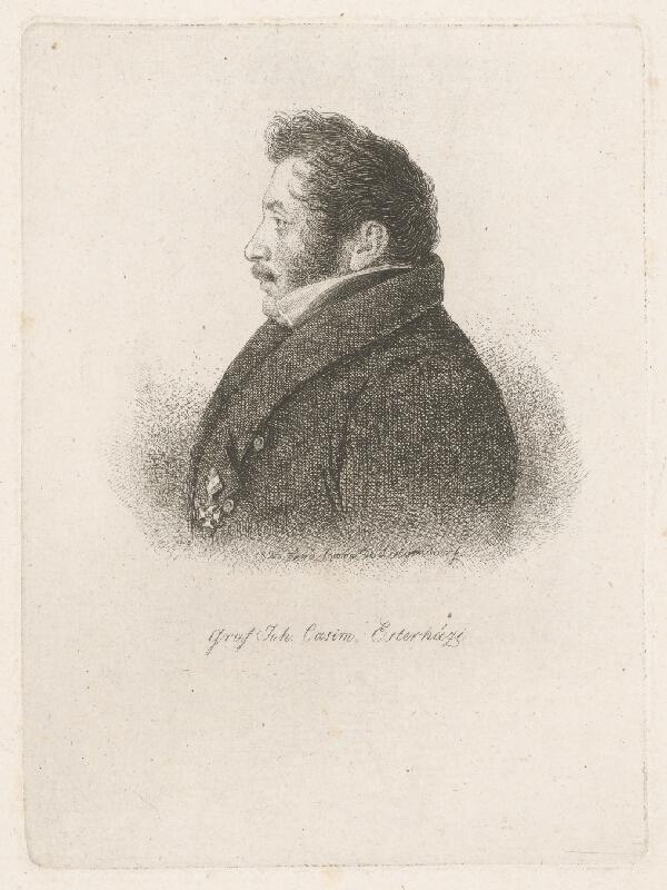 Ferdinand Karl Theodor Lütgendorff - Portrét grófa J.C.Esterháziho