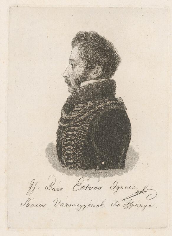 Ferdinand Karl Theodor Lütgendorff - Portrét baróna Ignaca Eötvösa
