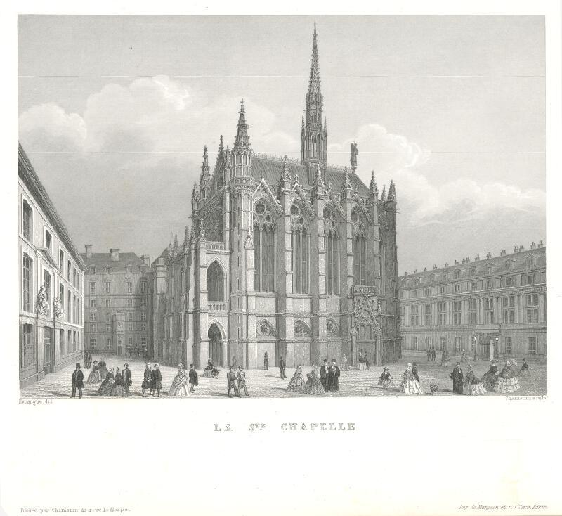 Adolphe Rouargue, Chamouin - Kostol La Chapelle v Paríži