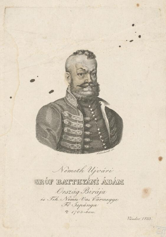 Samuel Lehnhardt - Gróf Adam Batthyányi