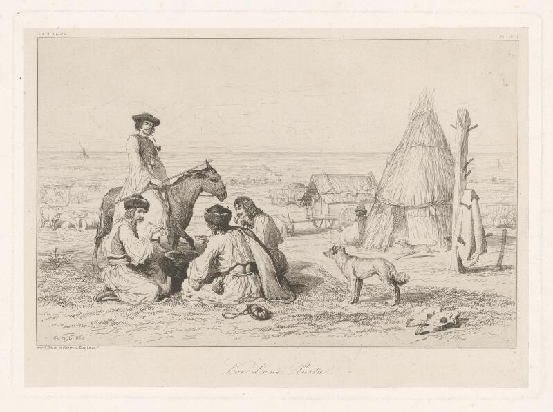 Théodore Valério - Pohľad na pustu