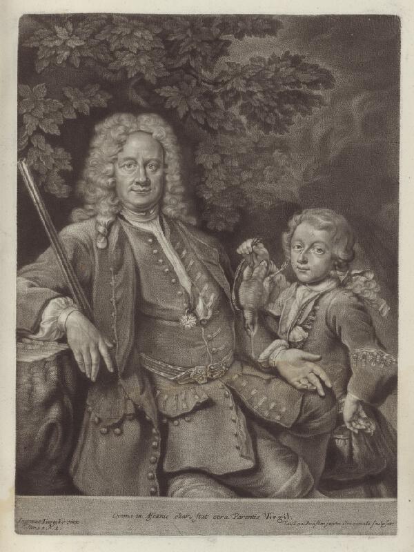 Ján Kupecký, Valentin Daniel Preisler - Portrét Karola Benedikta Geudera so synom
