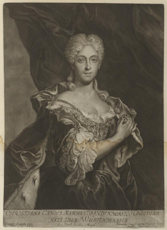 Ján Kupecký, Bernhard Vogel - Portrét braniborskej princezny Christiny Caroly