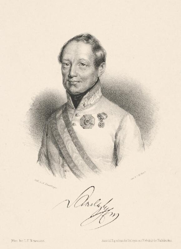 Adolf Dauthage - Portrét grófa J. Radeckého