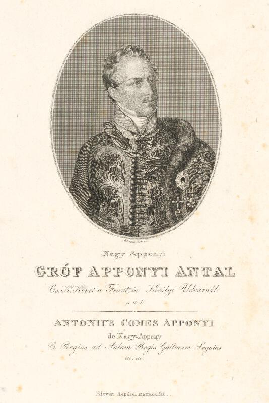 Adám Sándor Ehrenreich - Portrét grófa Apponyiho