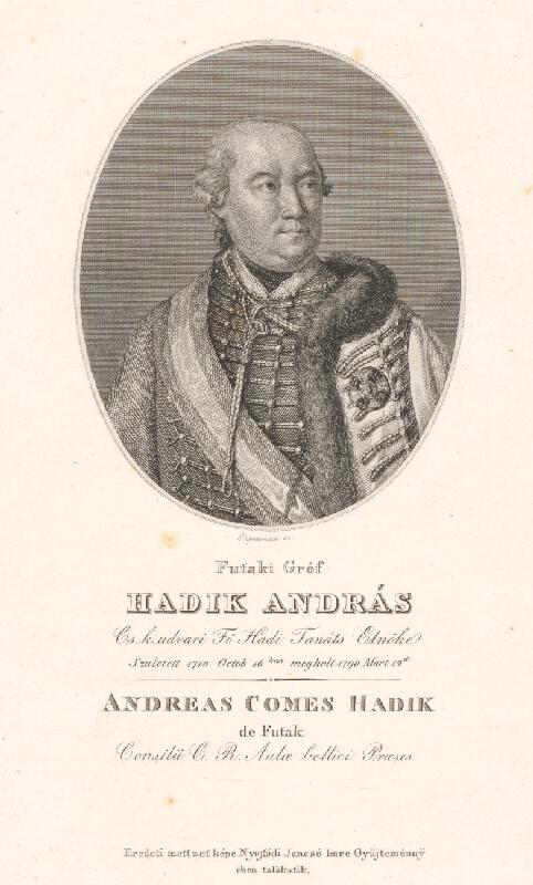 Adám Sándor Ehrenreich - Portrét grófa Ondreja Hadika