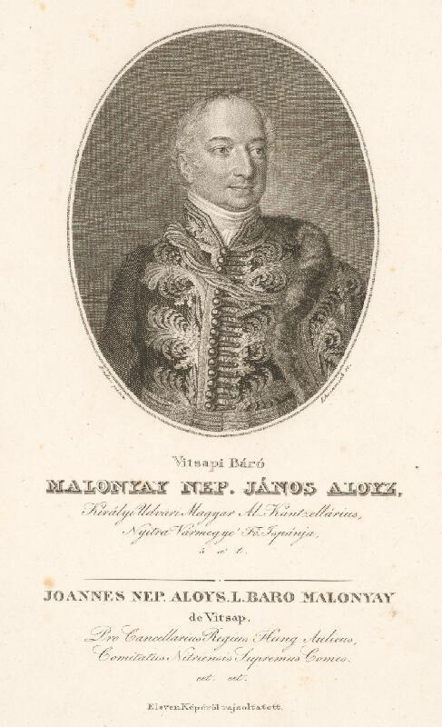 Johann Nepomuk Ender, Adám Sándor Ehrenreich - Portrét J.A. Malonaya