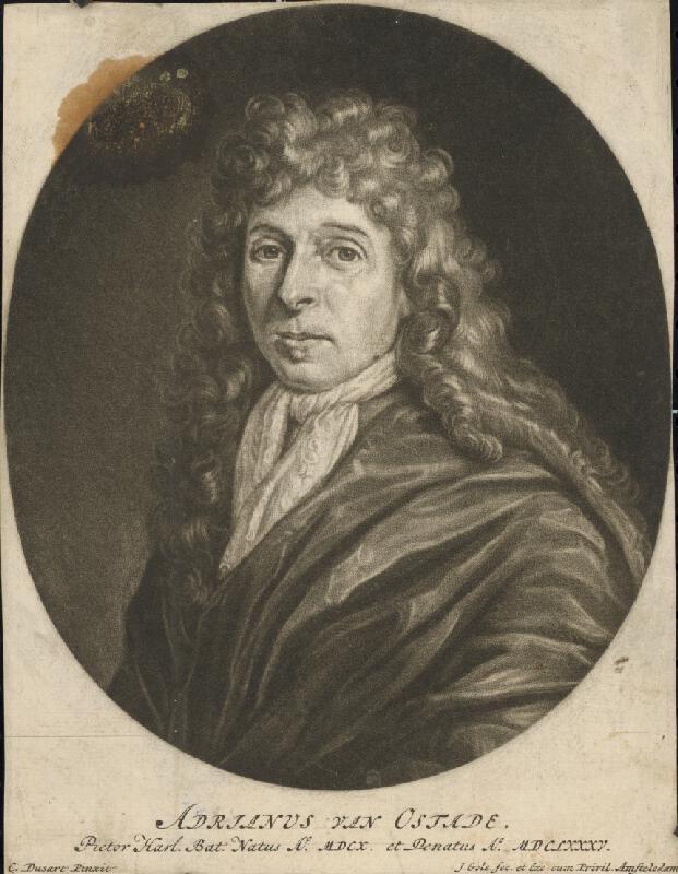 Jacob Gole, Cornelis Dusart - Portrét Adriana Van Ostade