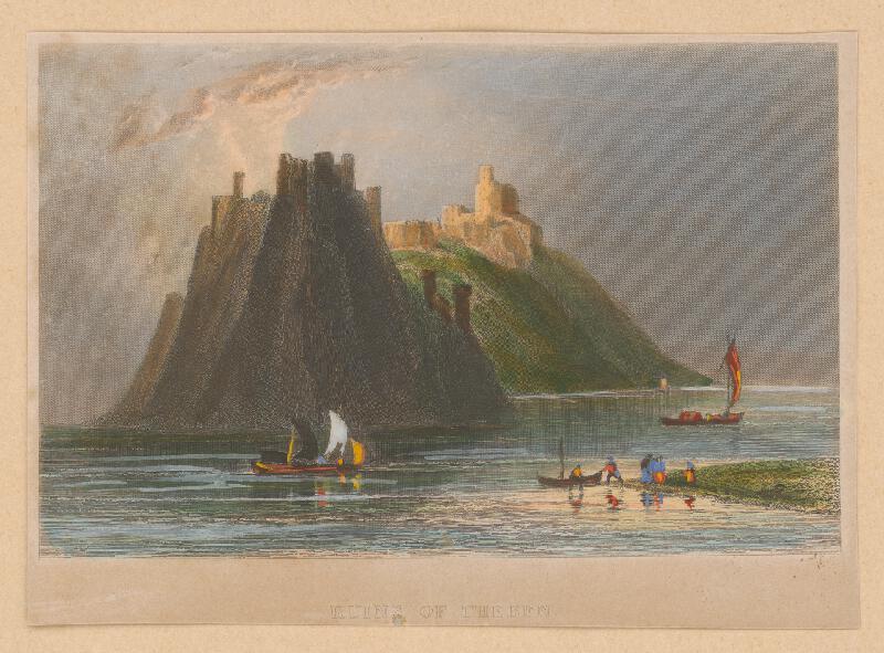 Stredoeurópsky maliar z 19. storočia - Pohľad na zrúcaniny