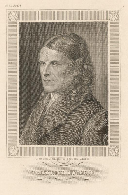 Carl Barth - Portrét Friedricha Rückerta