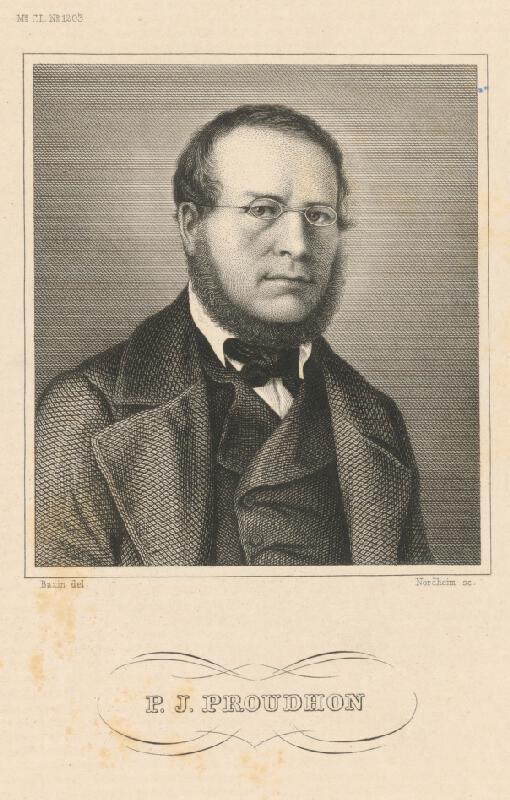 Johann Georg Nordheim, Johann Bazin - Portrét P.J.Proudhona
