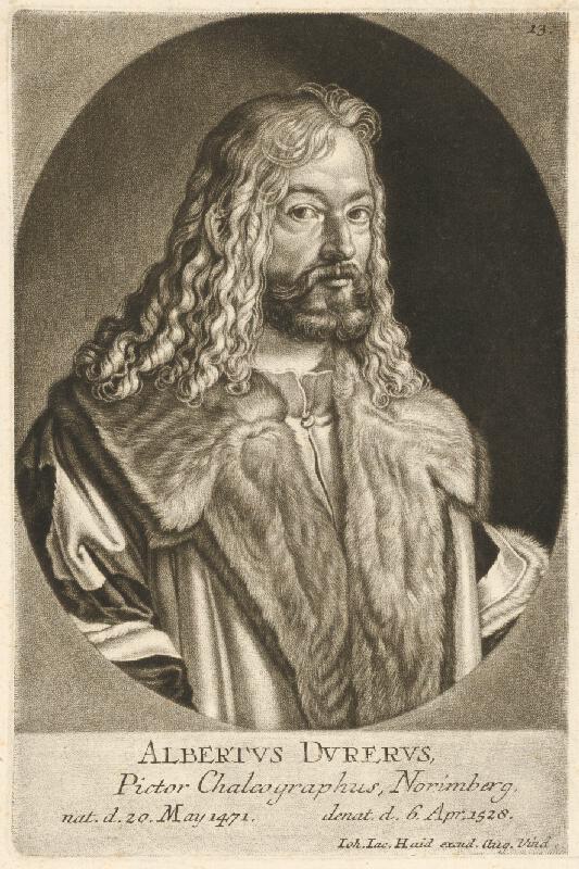 Johann Jacob Haid - Portrét Alberta Dürera