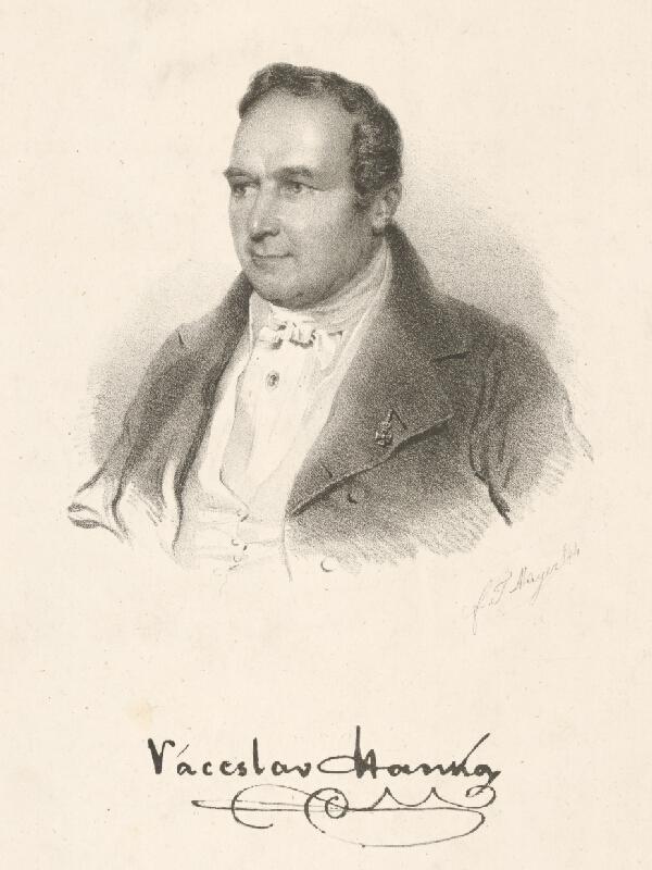 Tadeáš Mayer - Portrét Václava Hanku