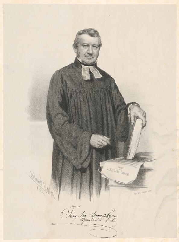 Eduard Kaiser - Portrét Franza Samuela Stromszkého