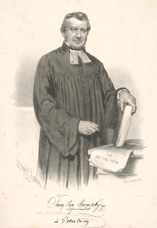 Eduard Kaiser - Portrét F.Samuela Stromszkého