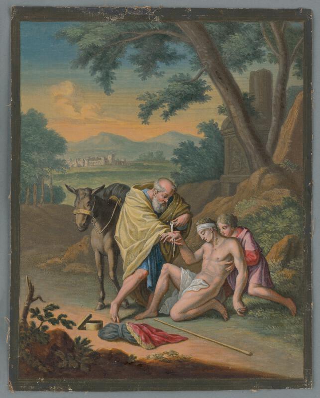 Caspar Luyken, Christoph Weigel st. - Milosrdný samaritán