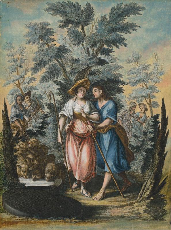 Stredoeurópsky maliar zo 17. storočia - Stretnutie Jákoba a Ráchel pri studni
