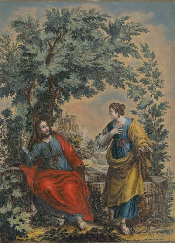 Stredoeurópsky maliar zo 17. storočia - Ježiš a Samaritánka