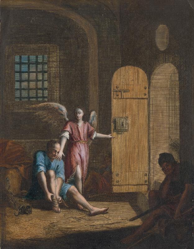 Caspar Luyken, Christoph Weigel - Oslobodenie svätého Petra z väzenia