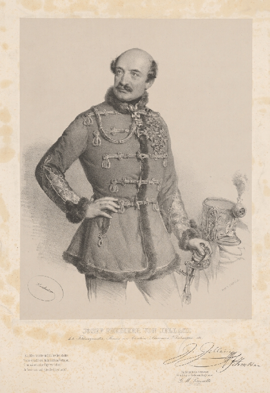 Joseph Kriehuber - Portrét Jozefa Jellačiča