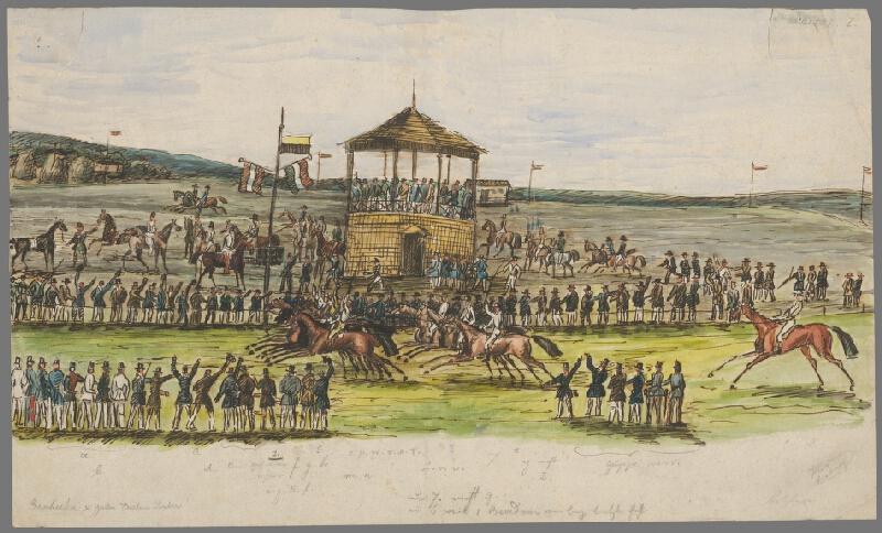 Antal József Strohmayer - Prvé konské dostihy v Bratislave 27. októbra 1839