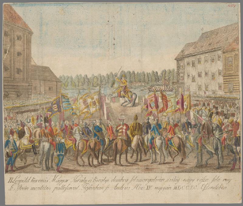 János Berken - Leopold II. na korunovačnom vŕšku v Bratislave