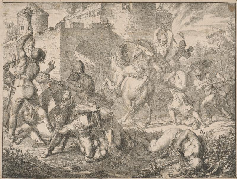 Joseph von Führich, Anton Machek - Zničenie hradu Devín
