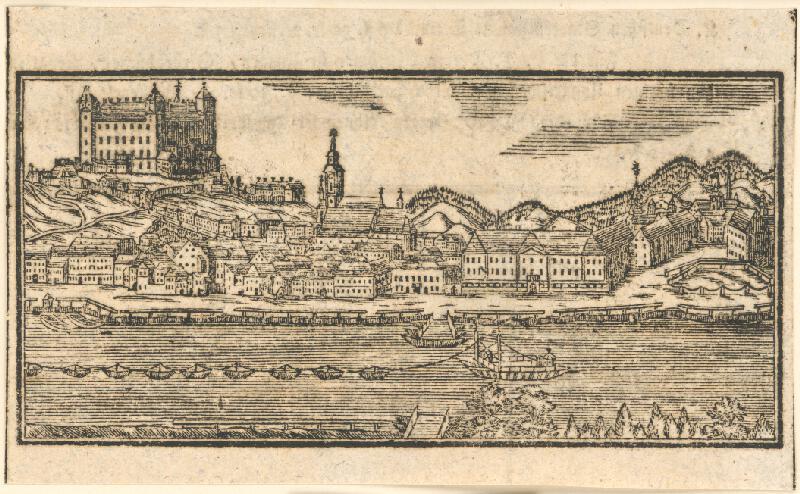 Stredoeurópsky rytec, Johan Michal Landerer - Pohľad na Bratislavu z juhu
