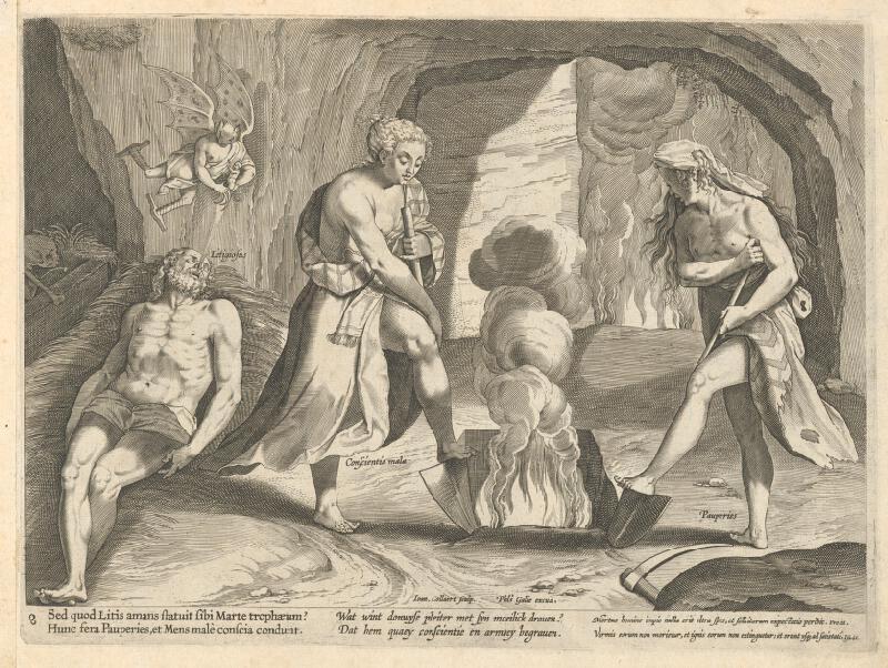 Philip Galle, Johannes Collaert - Alegória súdnictva VIII.